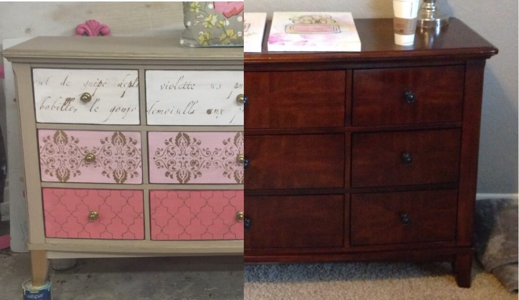 Mix Patterns on a Stenciled Dresser