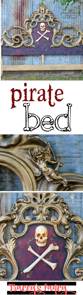 Gold, Red & Black Pirate Bed inspired from movie Pirates of the Caribbean | Tracey's Fancy