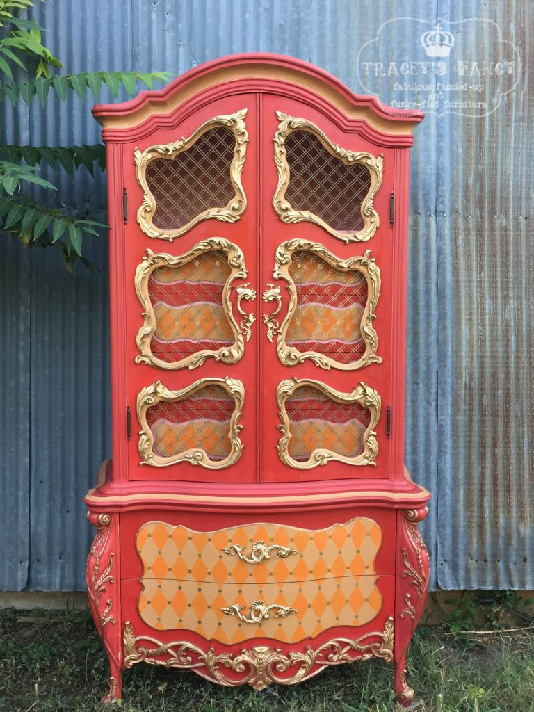 Beauty & the Beast Painted Armoire | Tracey's Fancy