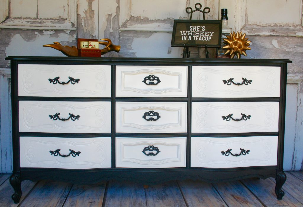 Classy Dresser in Black and White | Tracey's Fancy