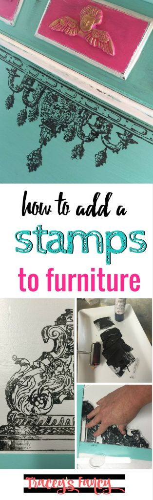 TF How to add Stamps to furniture  | Tracey's Fancy