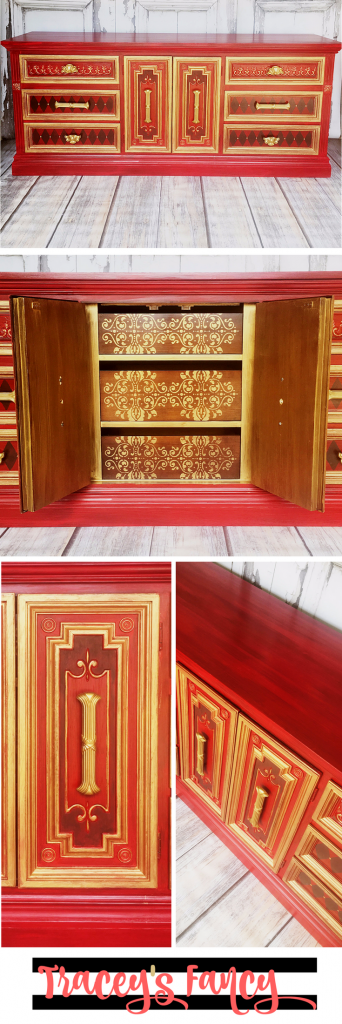 Morrocan Red and Gold Dresser | Tracey's Fancy