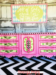 Painted Pink Polka Dot Dresser | Tracey's Fancy
