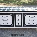 Black and White Dresser with Harlequin Traceys Fancy