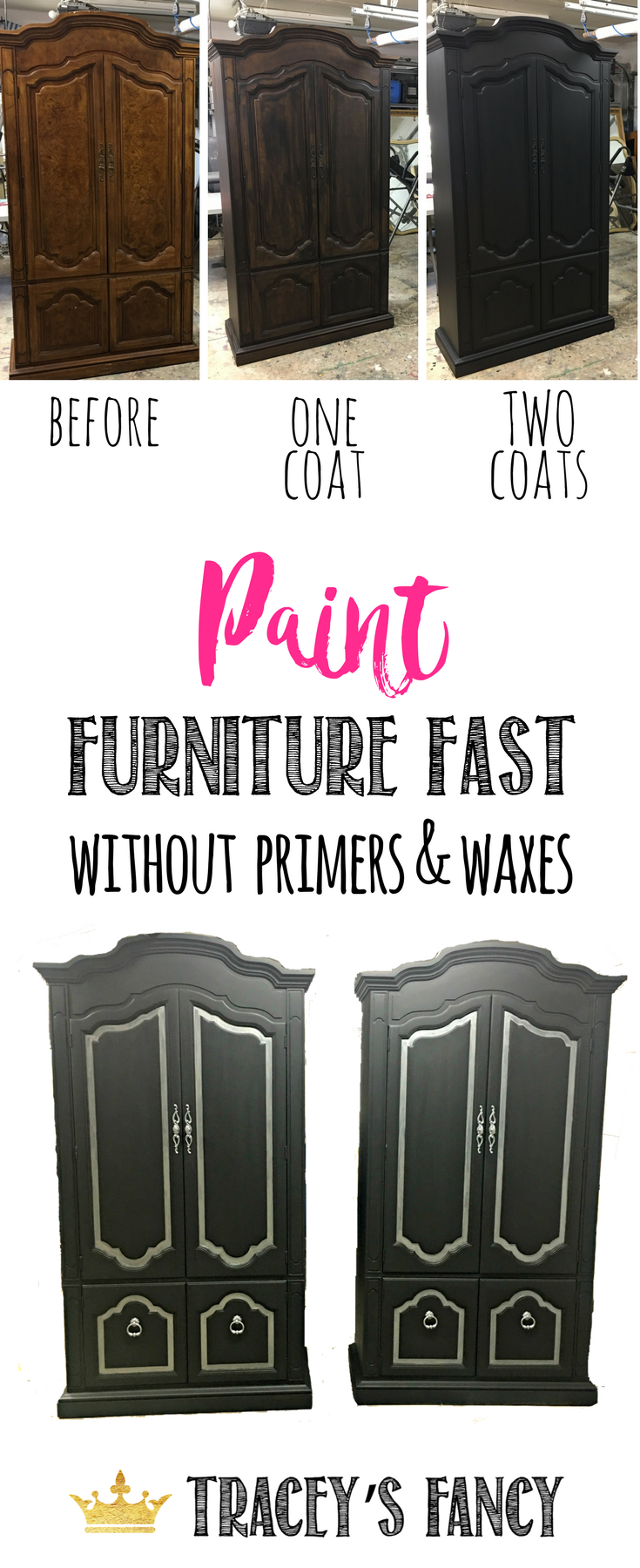 How to Paint Furniture Fast without primers or waxes | Furniture Painting Tips by Traceys Fancy | Heirloom Traditions All in One Chalk Type Paint
