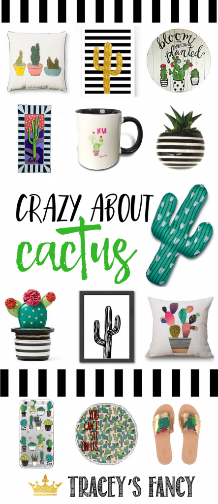 Funky & Fun! I'm Crazy about Cactus Decor - Hand-painted Cactus Art & Cactus Home Decor & Cactus Clothing - Gift Ideas - Tracey's Fancy