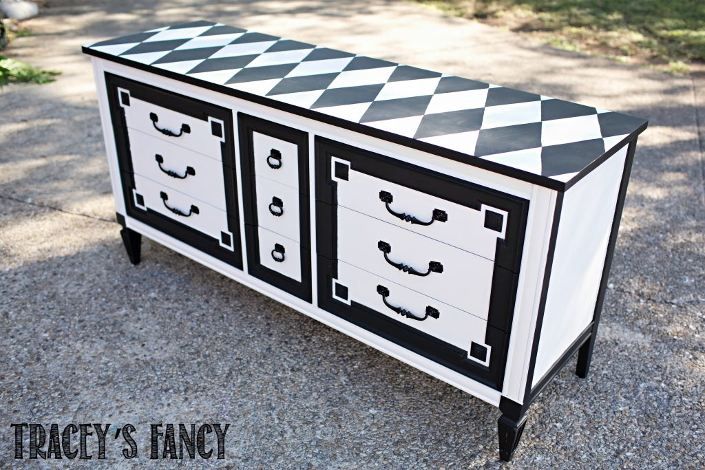 Black and White Harlequin Furniture by Tracey's Fancy