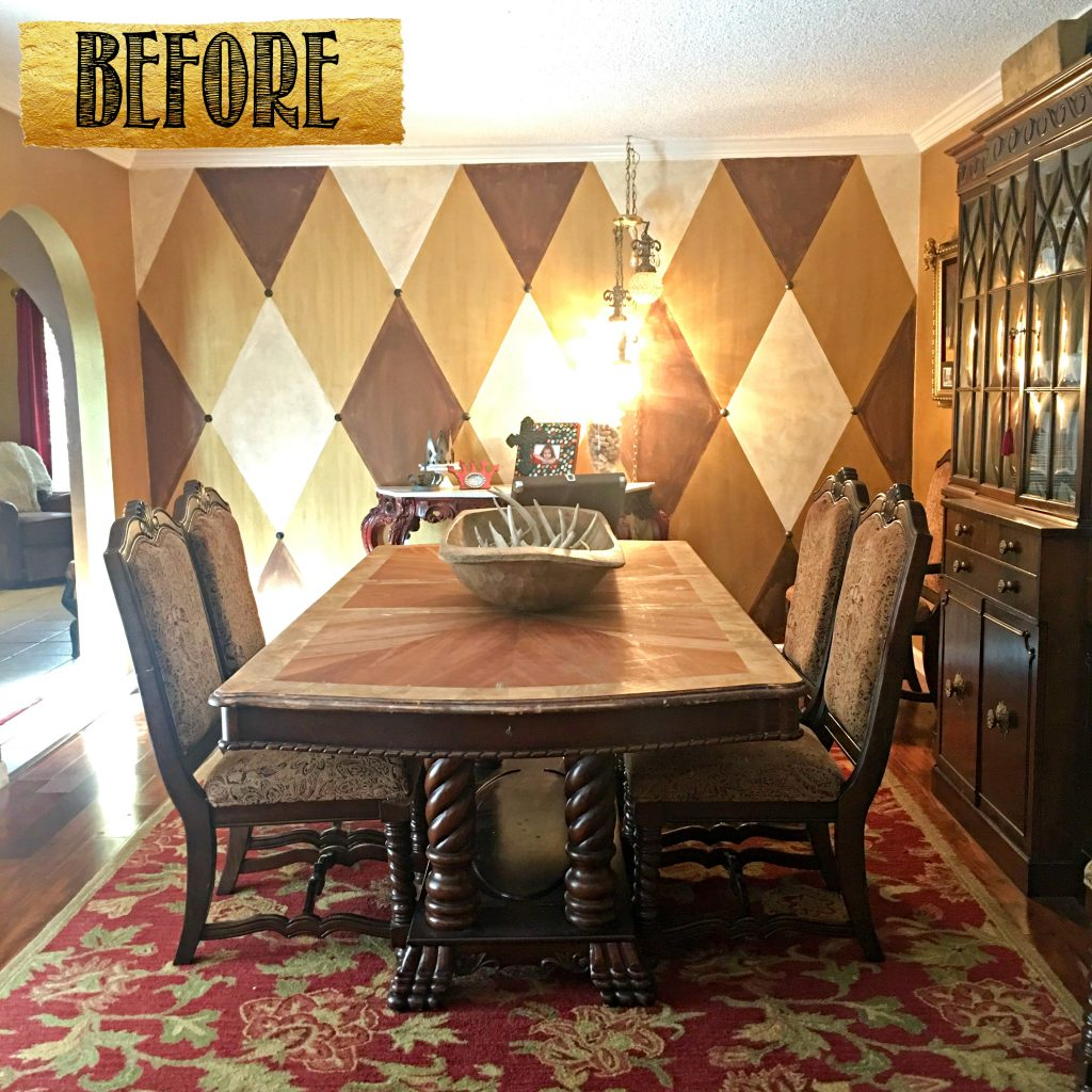 Tracey's Fancy Dining Room Before