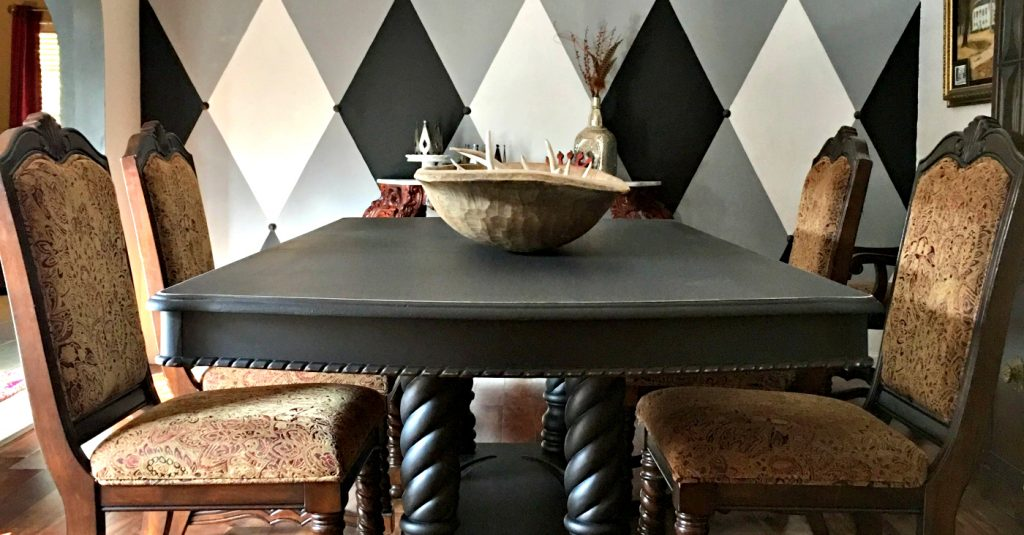 My Brown to Black Dining Room Makeover