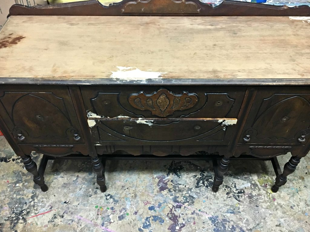 Black Painted Antique Buffet Tracey's Fancy