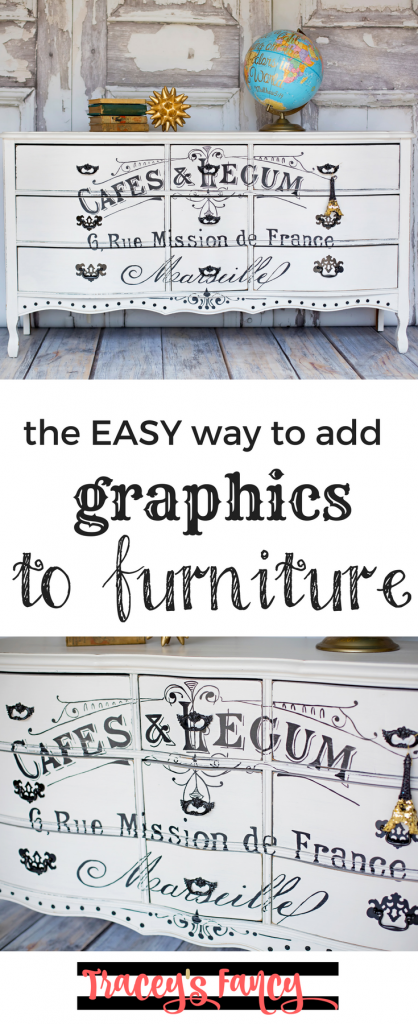 How to add graphics to furniture and how to make furniture graphics the easy way! | Furniture Painting tips by Tracey's Fancy