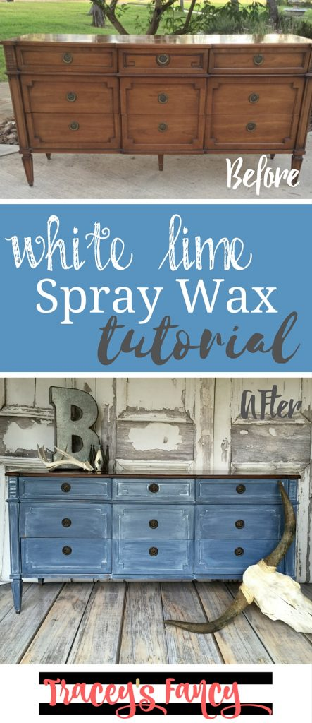Pin It White Lime Spray Wax Tutorial
