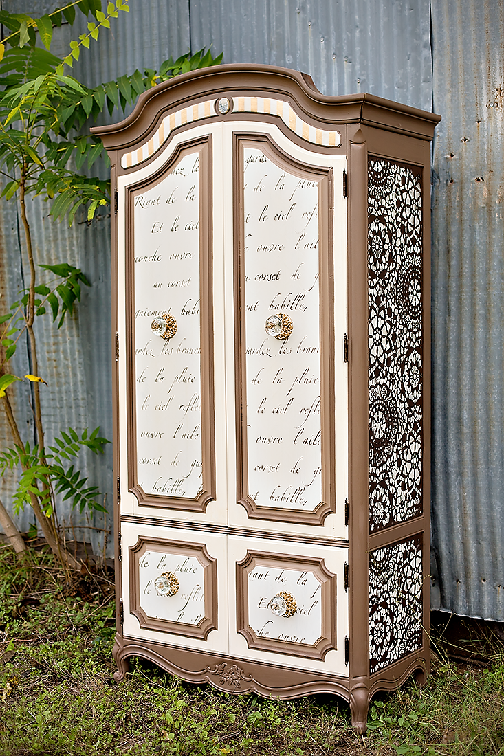 Armoire Makeover with Neutrals   Tracey's Fancy