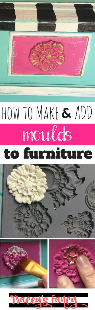 How to add Paper Clay Moulds to Furniture | Tracey's Fancy