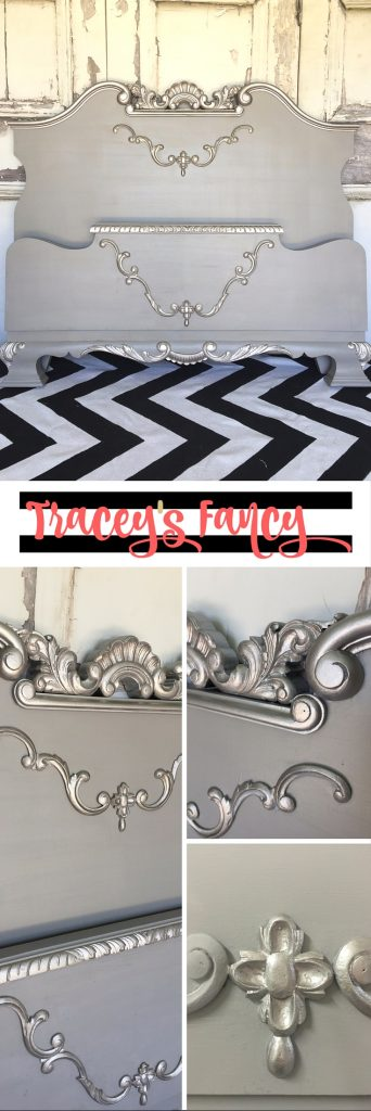 Silver Old Hollywood Bed Makeover | Tracey's Fancy