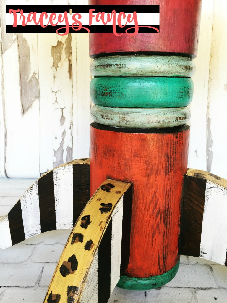 Jack & Coffee Funky Art Furniture Leg | Tracey's Fancy