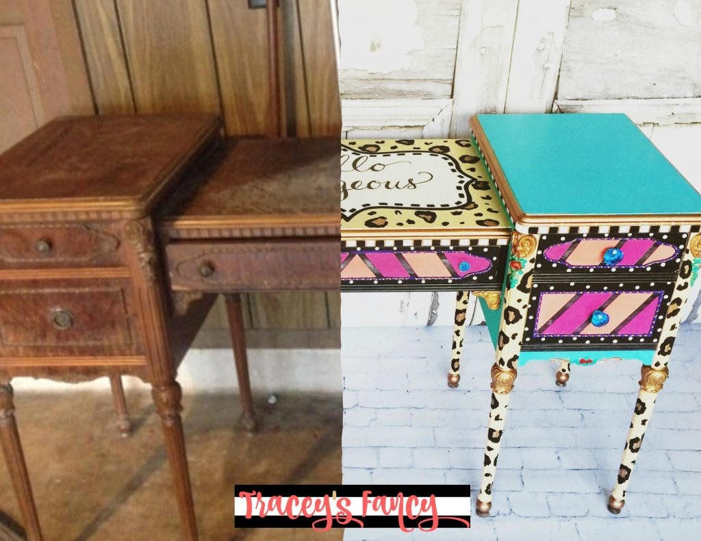 Painted Vanity Before & After | Tracey's Fancy