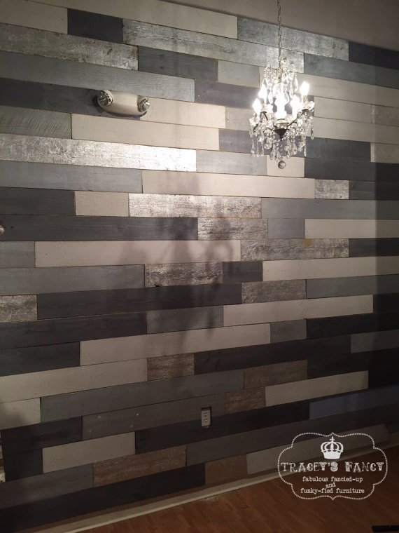The First Ever Metallic Wood Plank Wall Tracey S Fancy