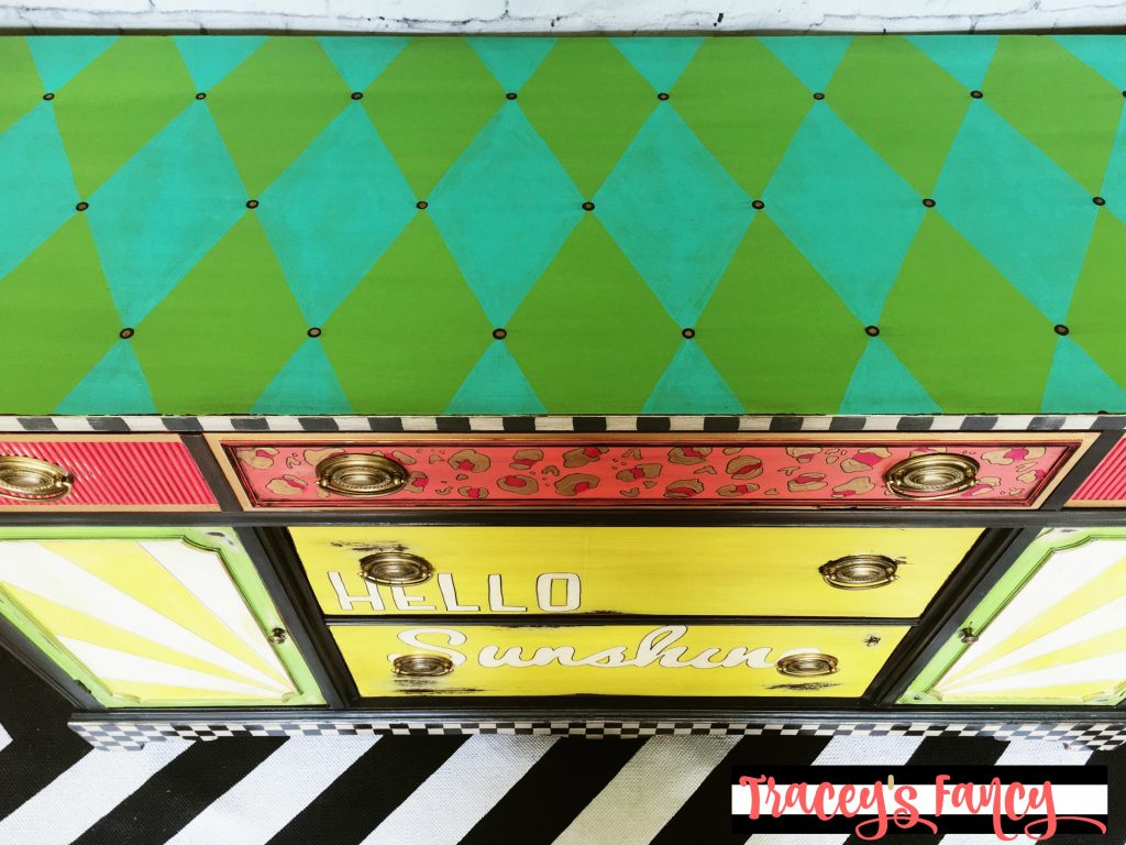 Hello Sunshine Painted Buffet | Tracey's Fancy