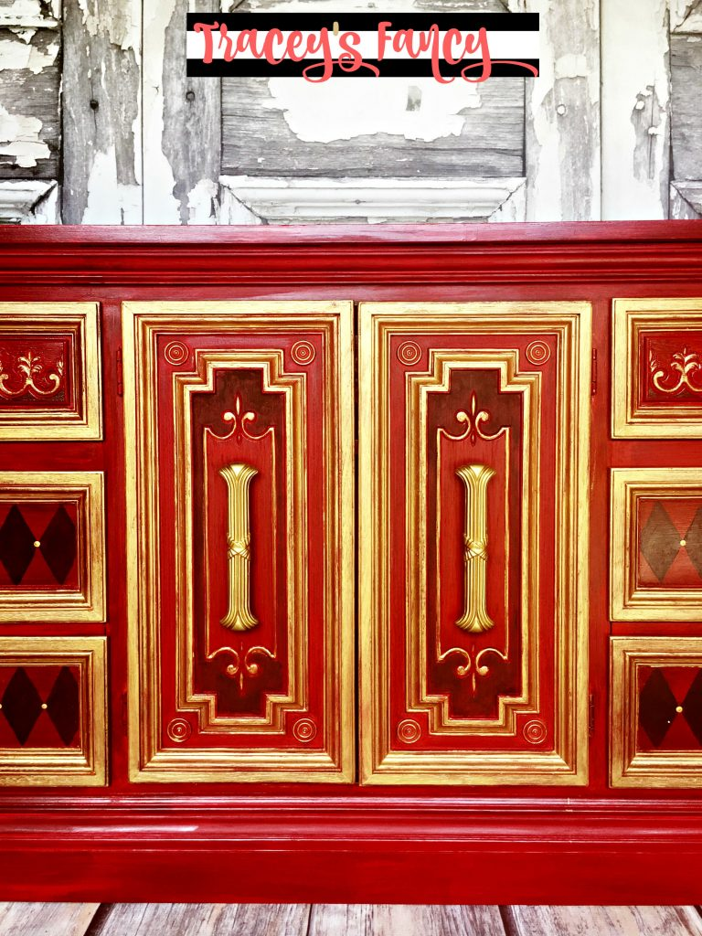 Royal Red and Gold Dresser | Tracey's Fancy