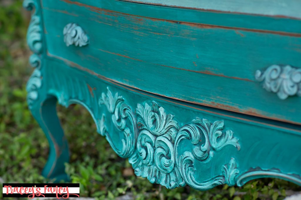 Farmhouse Teal Dresser | Tracey's Fancy