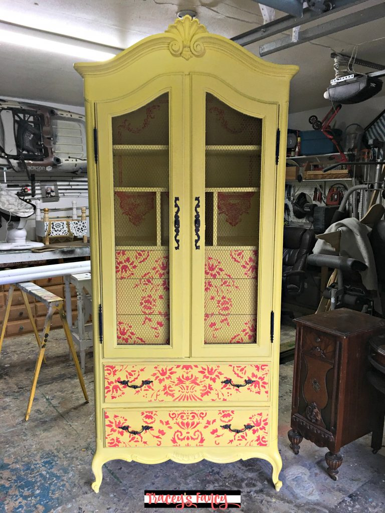 Painted Yellow Armoire | Traceyu0027s Fancy
