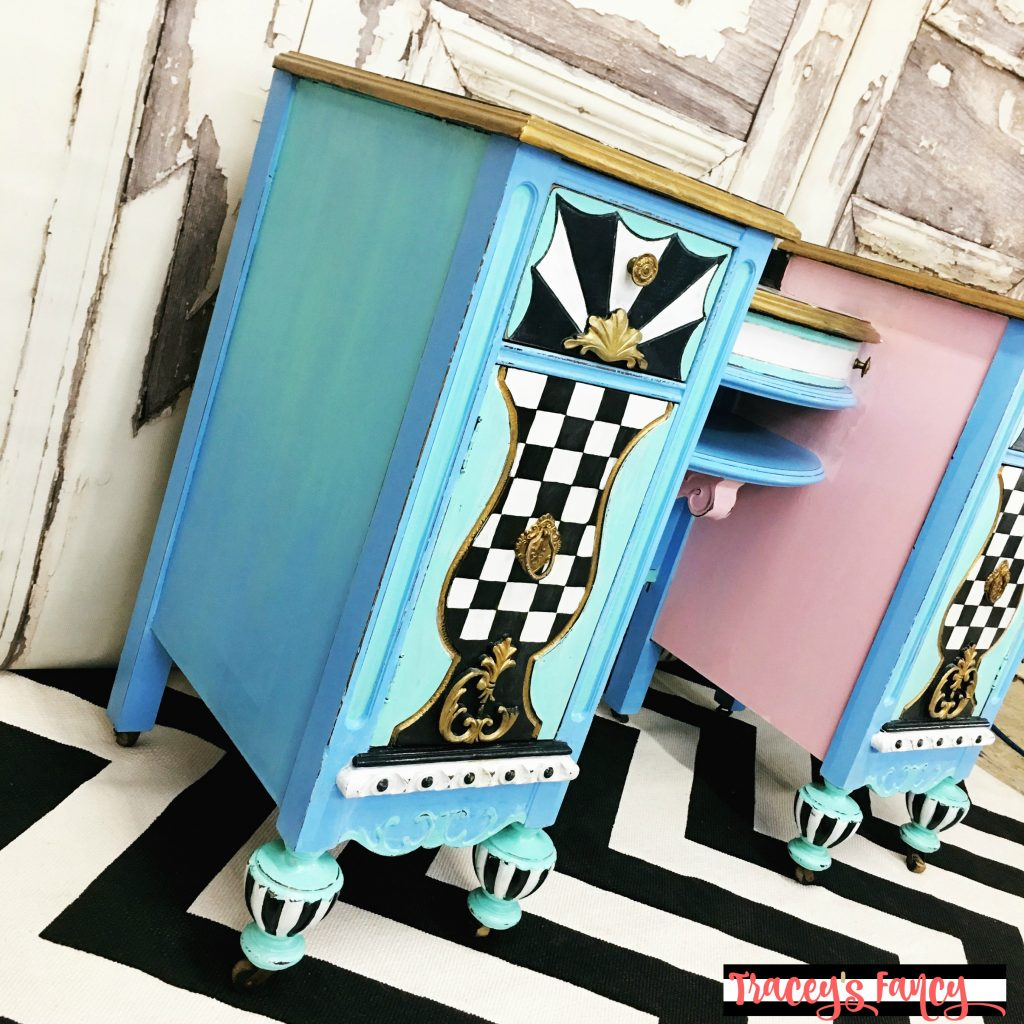 Blue Painted Vanity | Tracey's Fancy