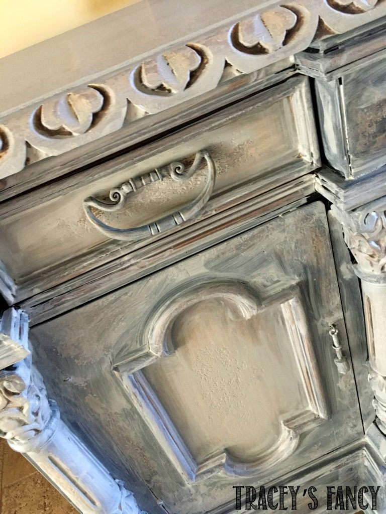 Heritage Collection All in One Chalk Paint Gray Entry Cabinet Traceys Fancy