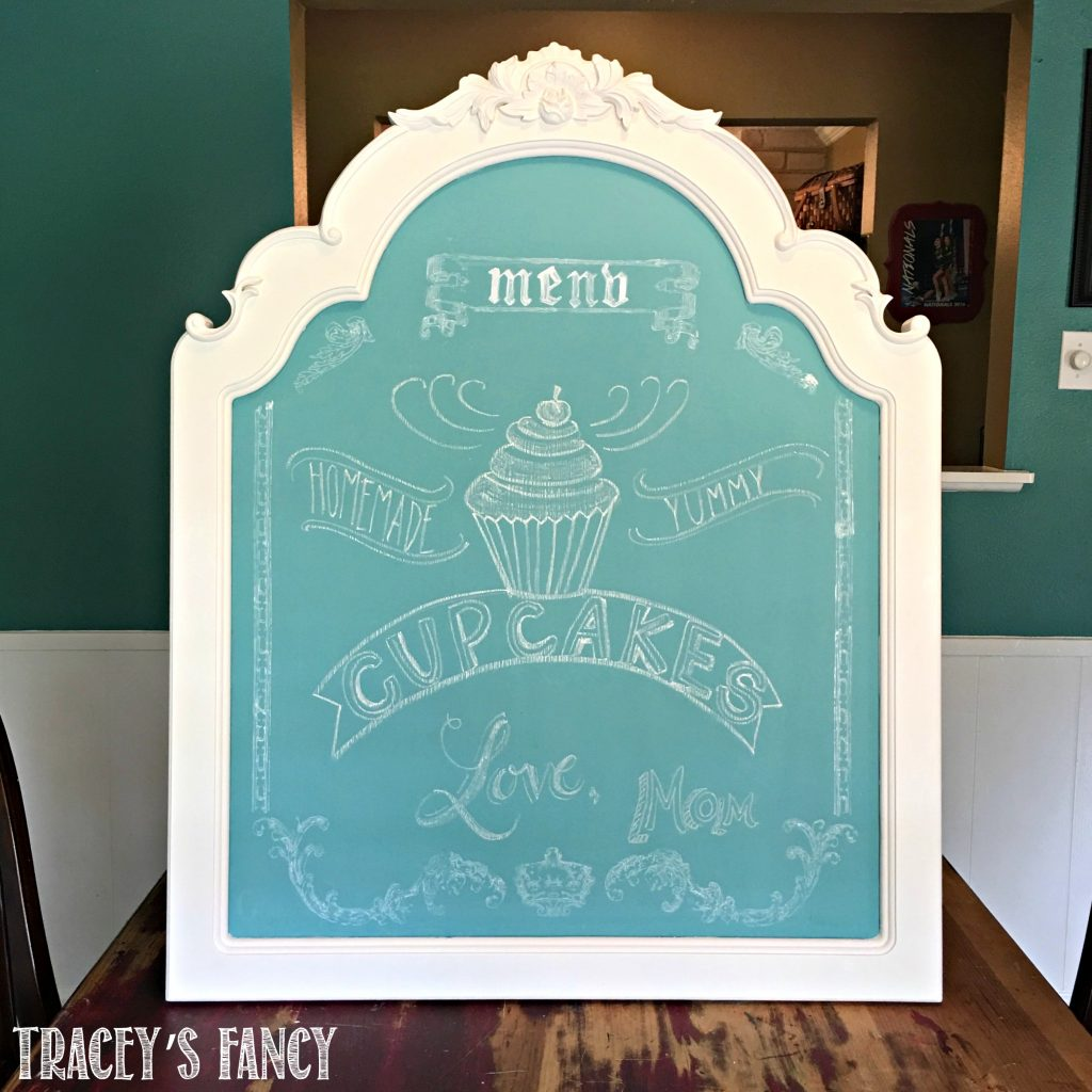 A Quick Painted Chalkboard with All in One Paint