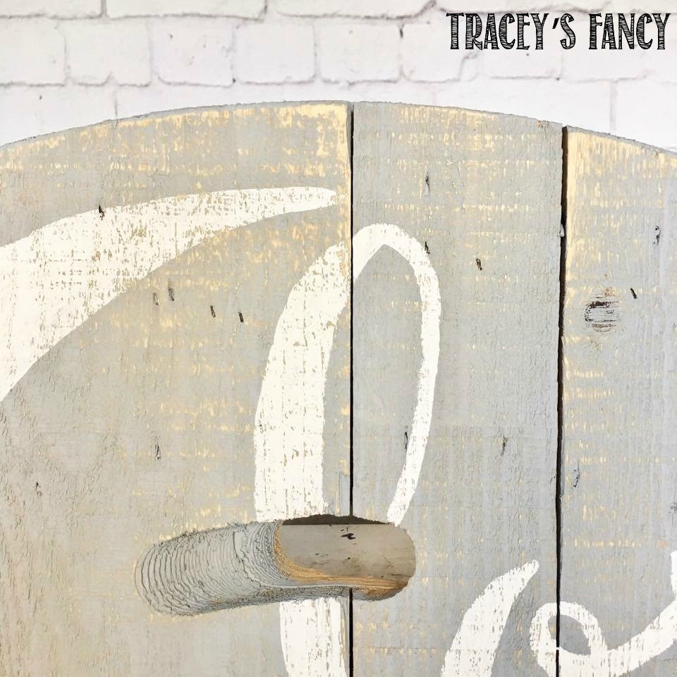 Upcycled Cable Spool Art Tracey's Fancy