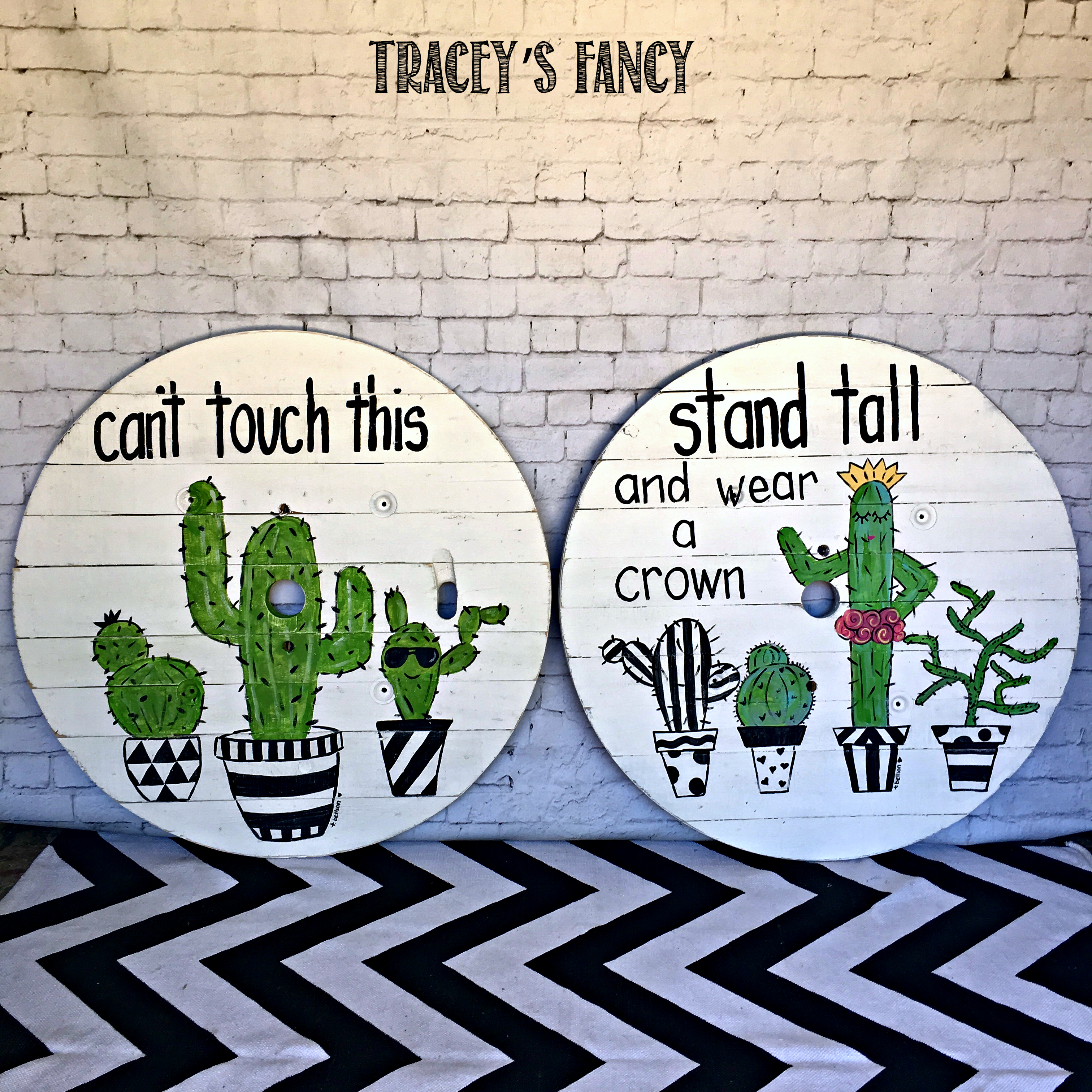 So Now Im Painting Cactus And Adding Sunglasses Phrases Decorating Pots Upcoming Blog Postdont Miss Itand Putting Polka Dots In Skiesoh