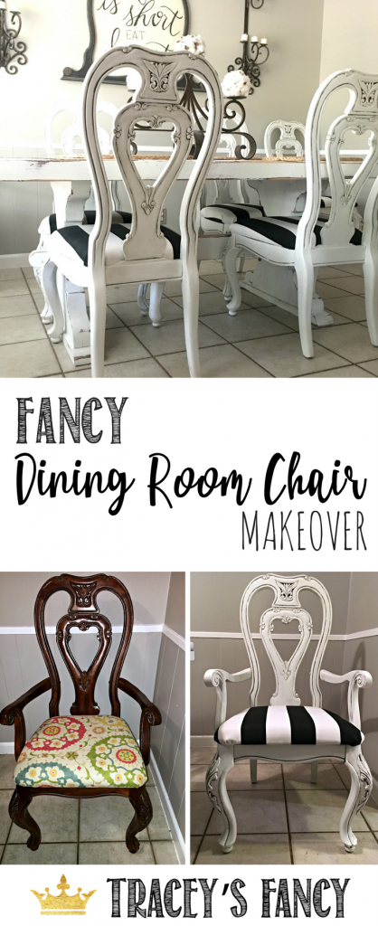 Glazed Dining Room Chairs Tracey's Fancy Chair Makeover | Black and White Upholstery Makeover