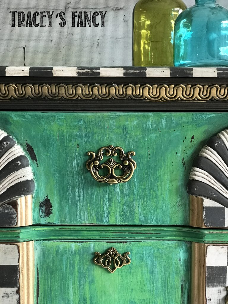 Grunge Painted Dresser-Tracey's Fancy