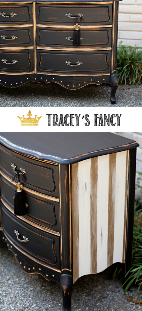 Very best Black and Gold Dresser - A Rustic Glam Beauty by Tracey's Fancy PR78