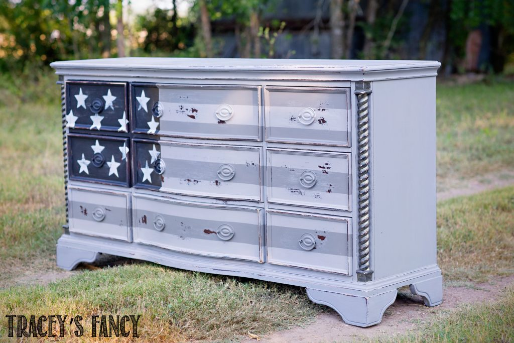 Patriotic American Flag Dresser by Tracey's Fancy