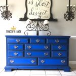 Cobalt Blue Dresser with Silver Handles Tracey's Fancy