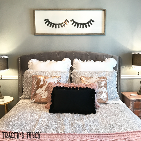 Sophie's Bedroom – A Rose Gold + Gray Retreat