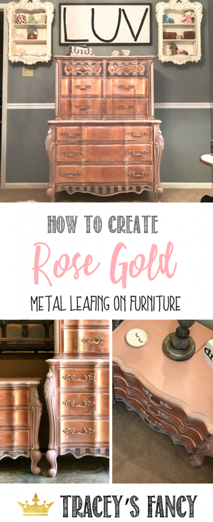 How To Paint Rose Gold Metallic Furniture Tracey S Fancy