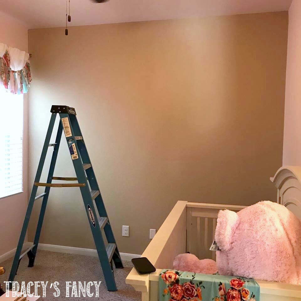 Floral Wood Plank Wall for a Little Girl's Nursery Tracey's Fancy