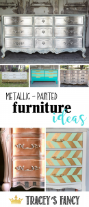 Metallic Painted Furniture Ideas With Traceyu0027s Fancy | How To Paint  Metallic Furniture #furnituremakeover |