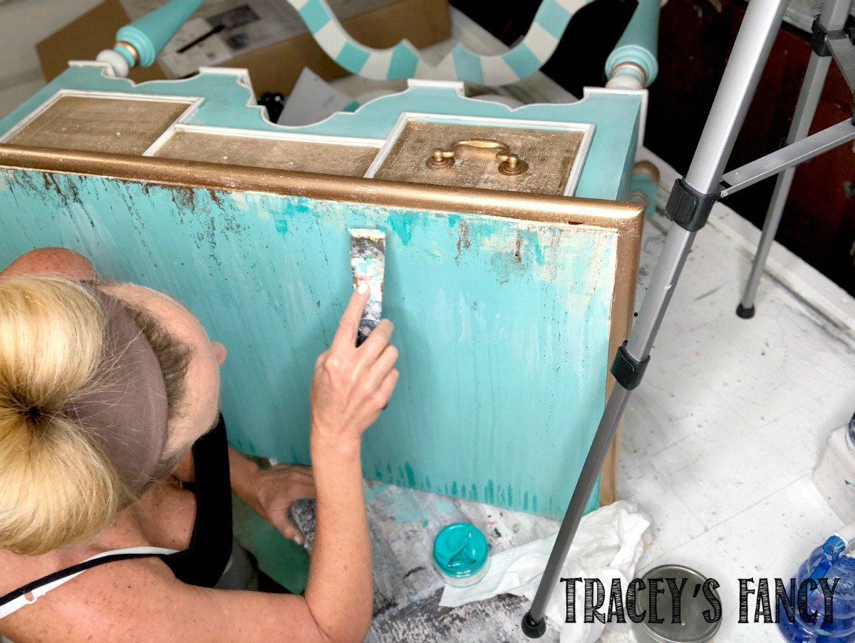 Whimsical Painted Vanity by Tracey's Fancy