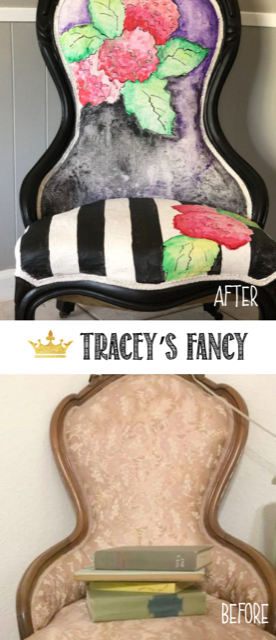 Whimsical Painted Fabric Chairs by Traceys Fancy