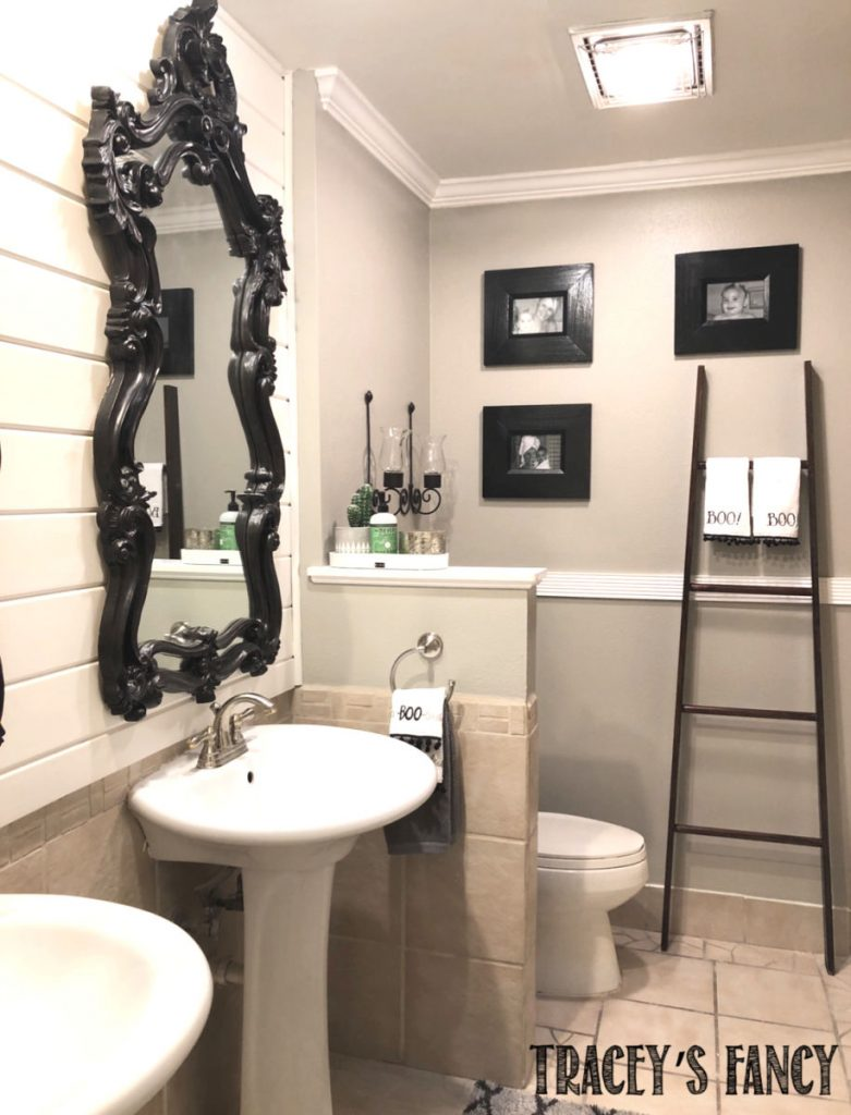 Guest bathroom remodel on a budget by Traceys Fancy
