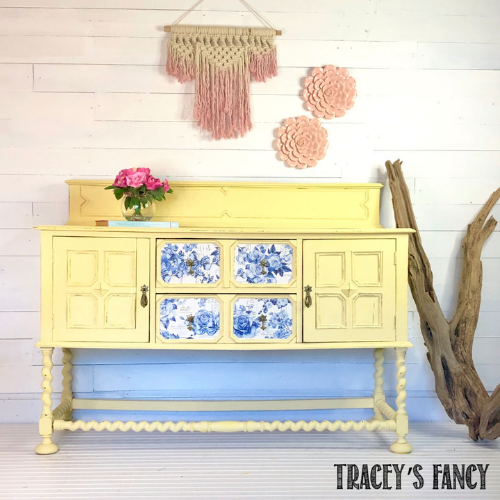 Soft Yellow Farmhouse Buffet Transformation