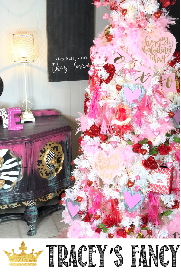 Transforming your Christmas tree…into a Valentines tree