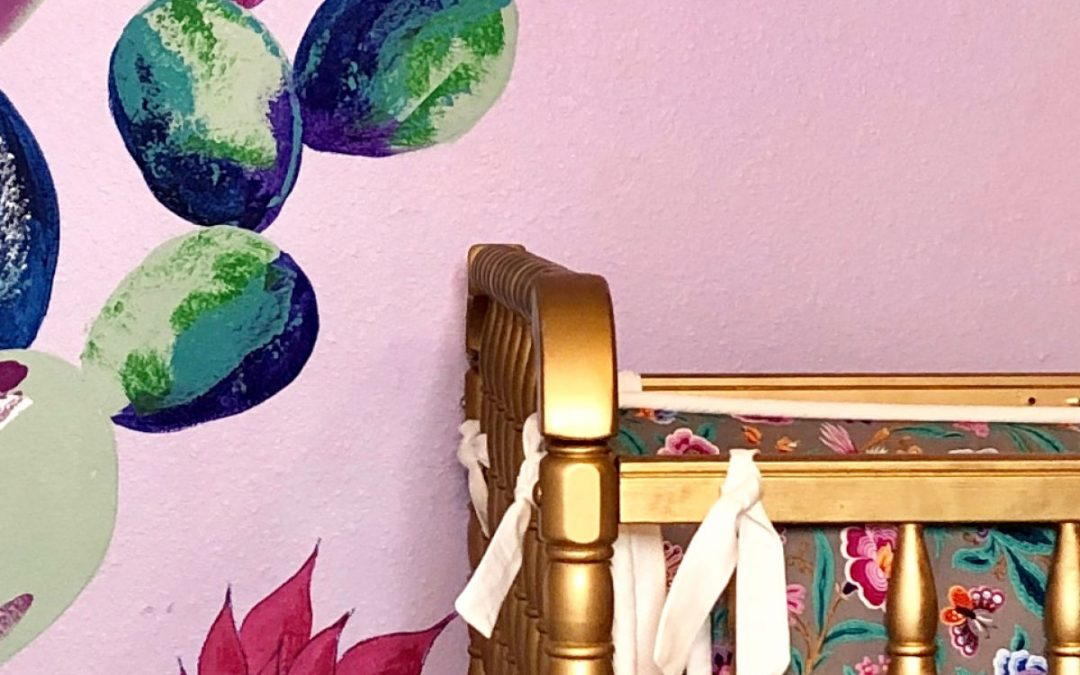 Bold Boho Cactus wall mural for my newest fancy grand