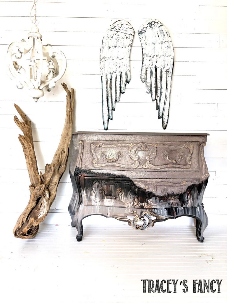 Charred Textured Grunge Chest by Traceys Fancy