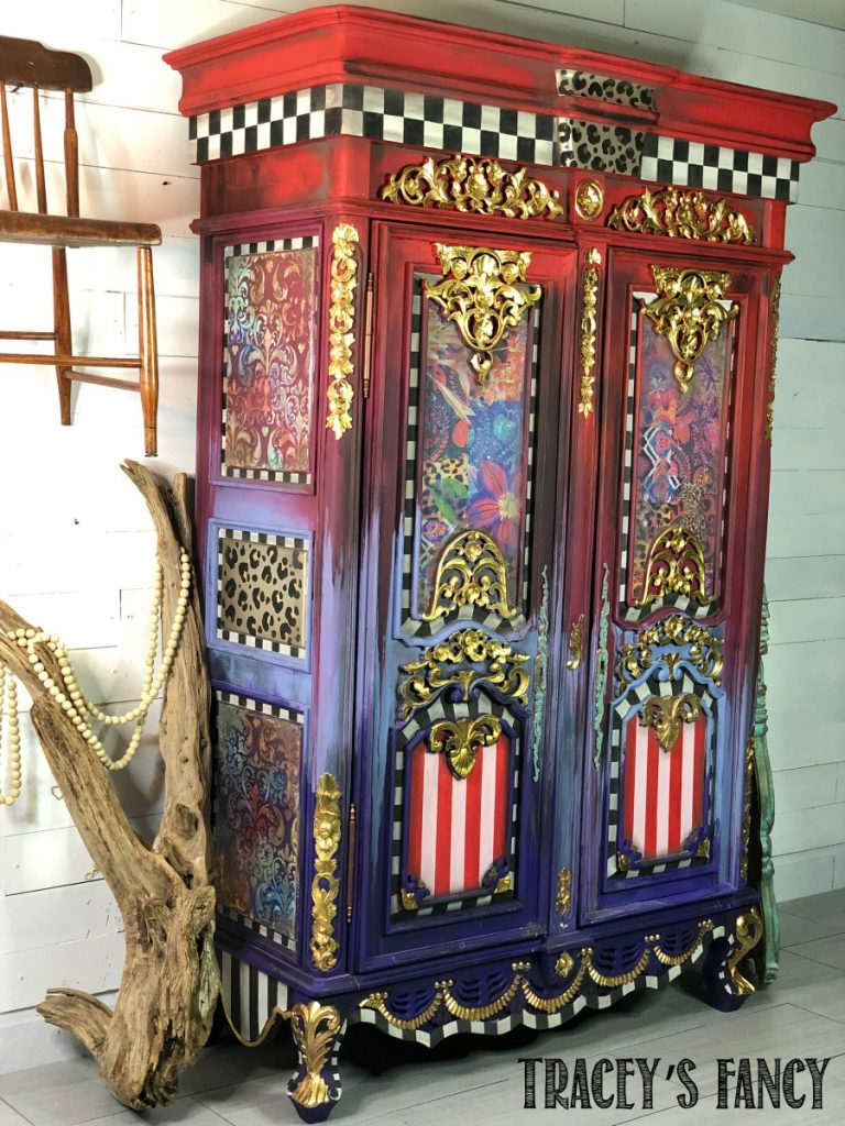 Whimsical Boho Gypsy Armoire by Traceys Fancy