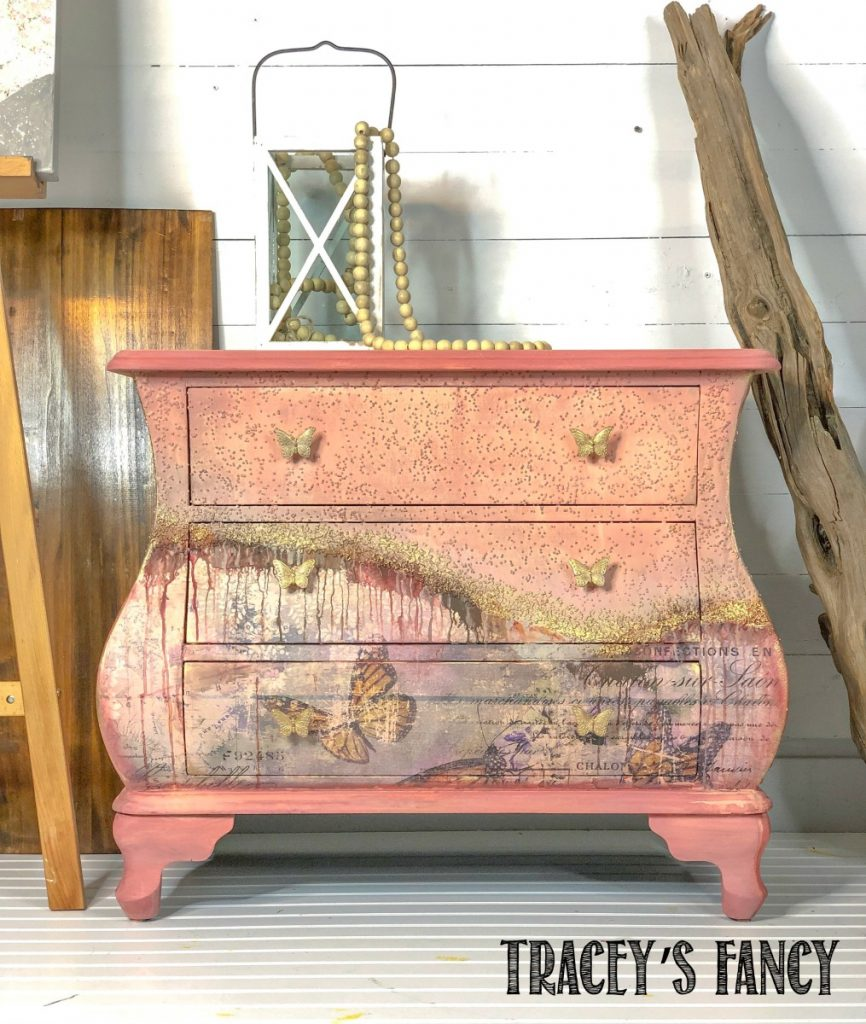 Butterfly Bombe Chest by Traceys Fancy