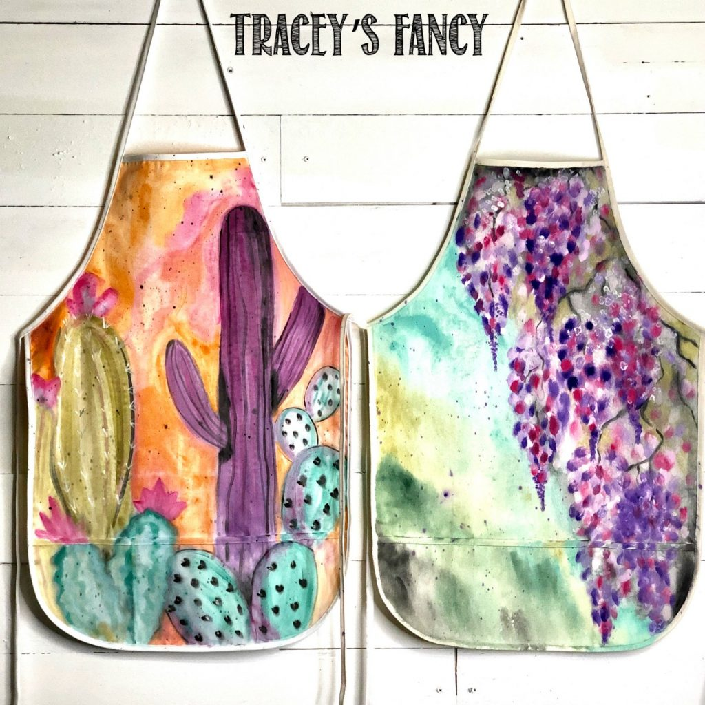 Hand painted apron by Traceys Fancy